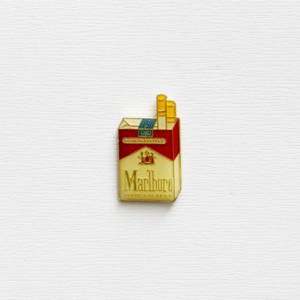 Image of Vintage Marlboro Cigarettes Enamel Pin