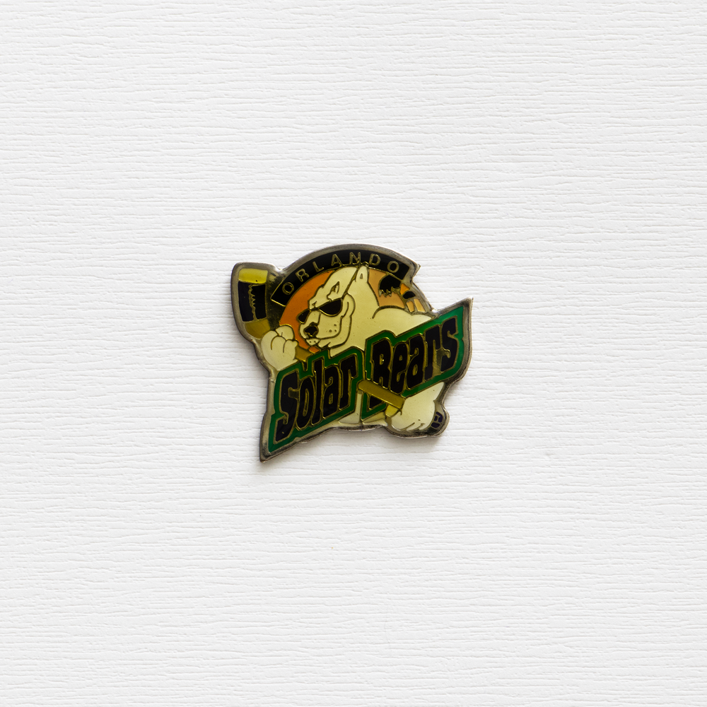 Image of Vintage NHL Solar Bears Enamel Pin