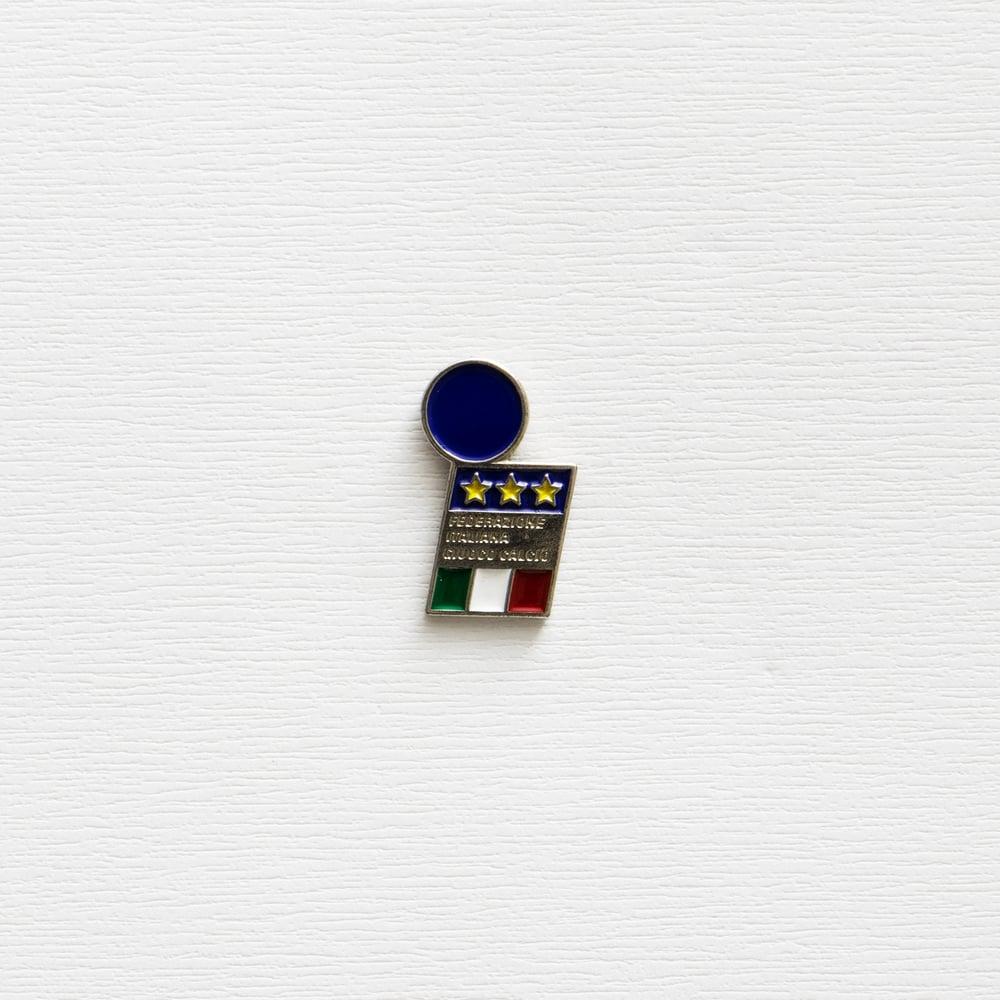 Image of Vintage FIGC Enamel Pin