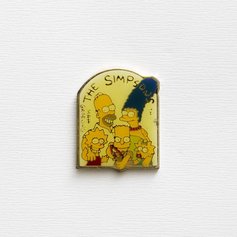 Image of Vintage The Simpson OG Matt Groening Enamel Pin