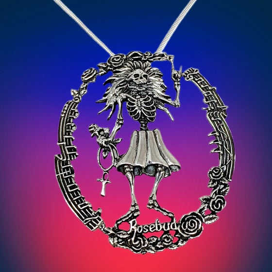 Image of Rosebud Pendant Cast in Sterling Silver