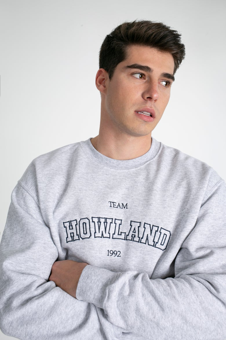 Image of HOWLAND OLD SCHOOL SWEATER GREY