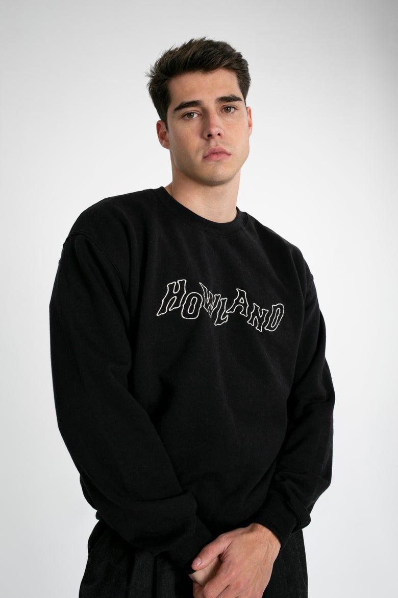 Image of HOWLAND BLACK ROPE SWEATER