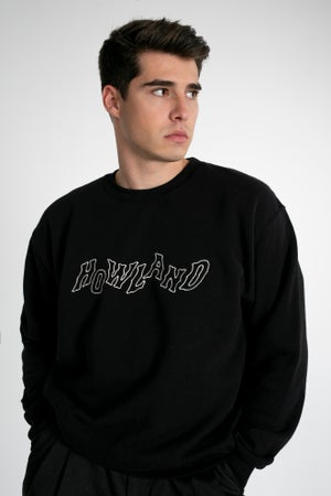 Image of HOWLAND BLACK ROPE SWEATER