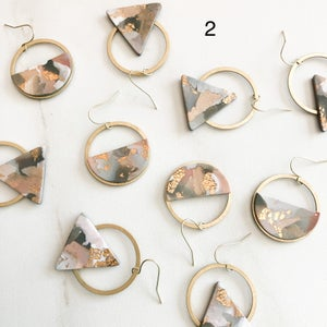 Image of brass circle collection