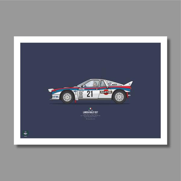 Image of Lancia 037 Rally Car Giclee Print