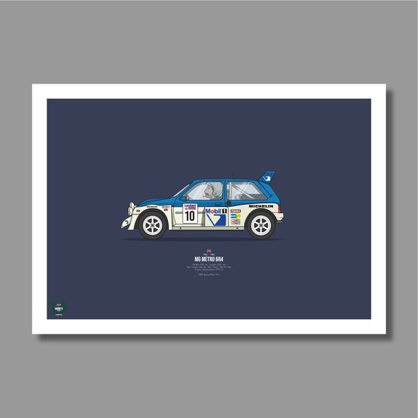Image of Austin Metro 6R4 Rally Car Giclee Print
