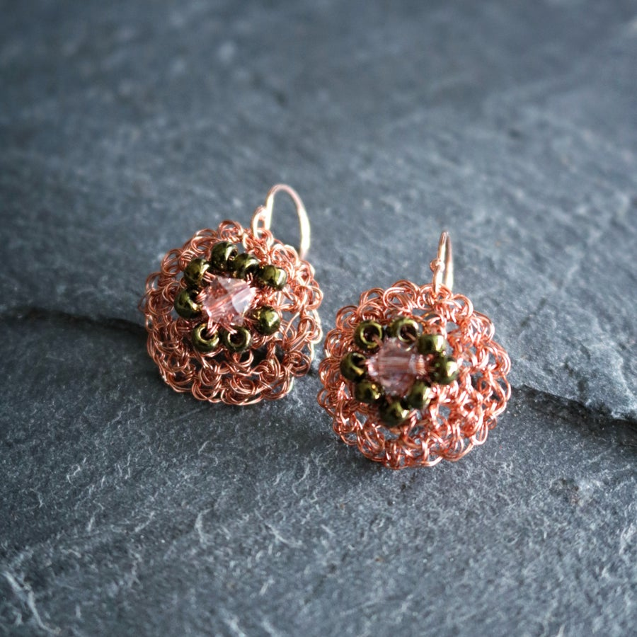Image of PHOOL Earrings - Peach Blossom