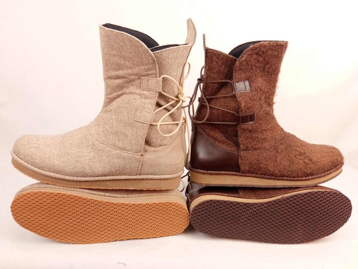 Image of REY BOOTIES Combo (1pair Beige + 1 pair Brown)