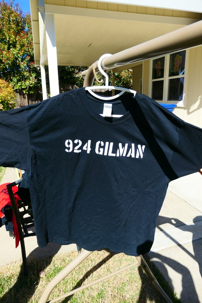 Image of 924 Gilman Text Logo/Club Rules 2 Sided T-Shirt