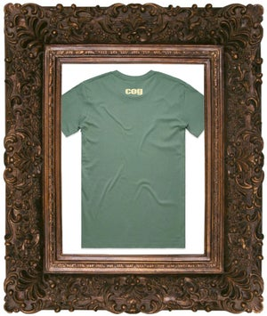 Image of Fear Is The Virus, Sage T-Shirt w/ off White Print