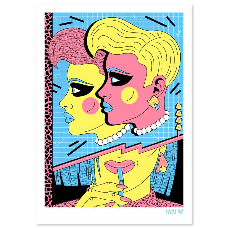 Image of 1984 TWINS Print