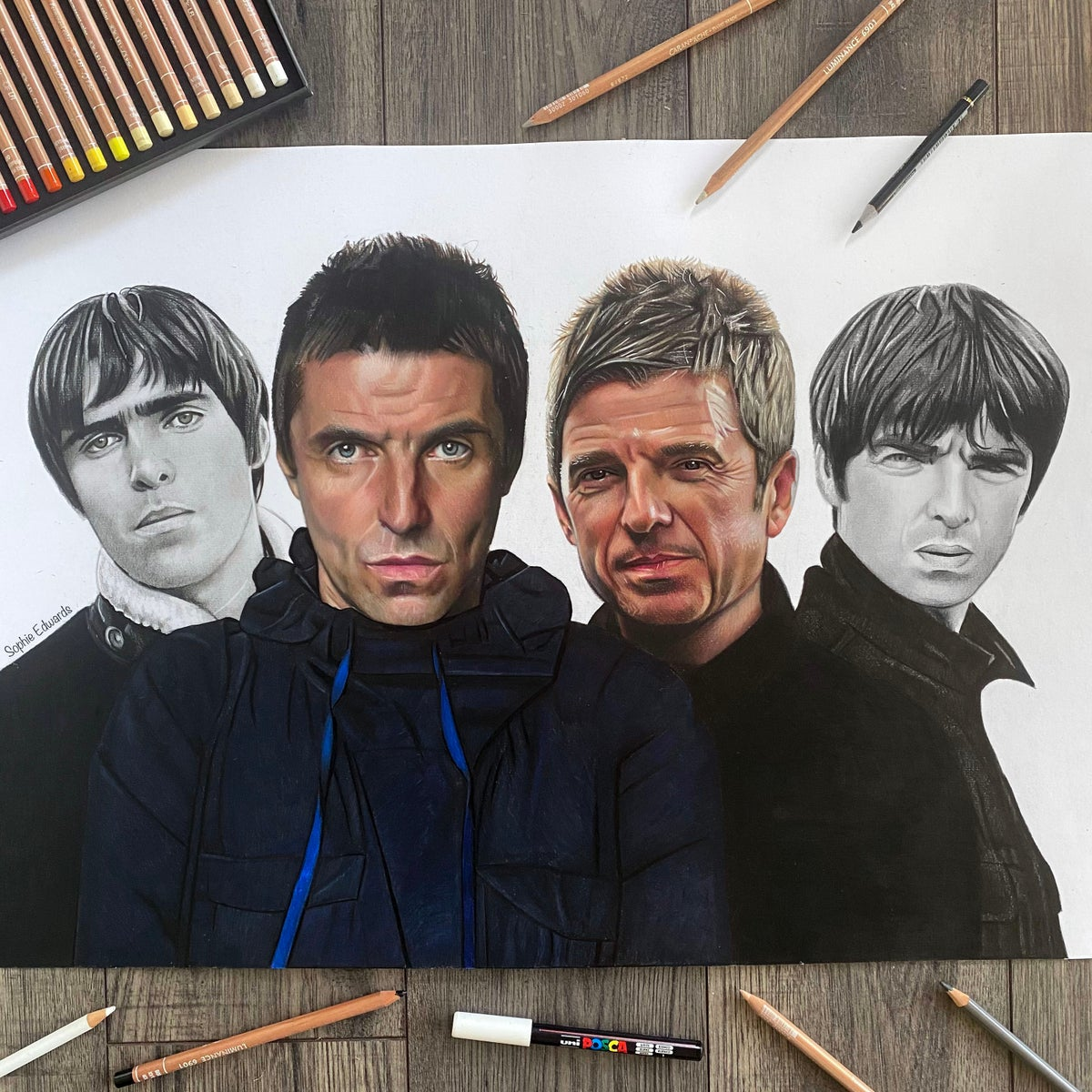 Image of Liam & Noel Gallagher print