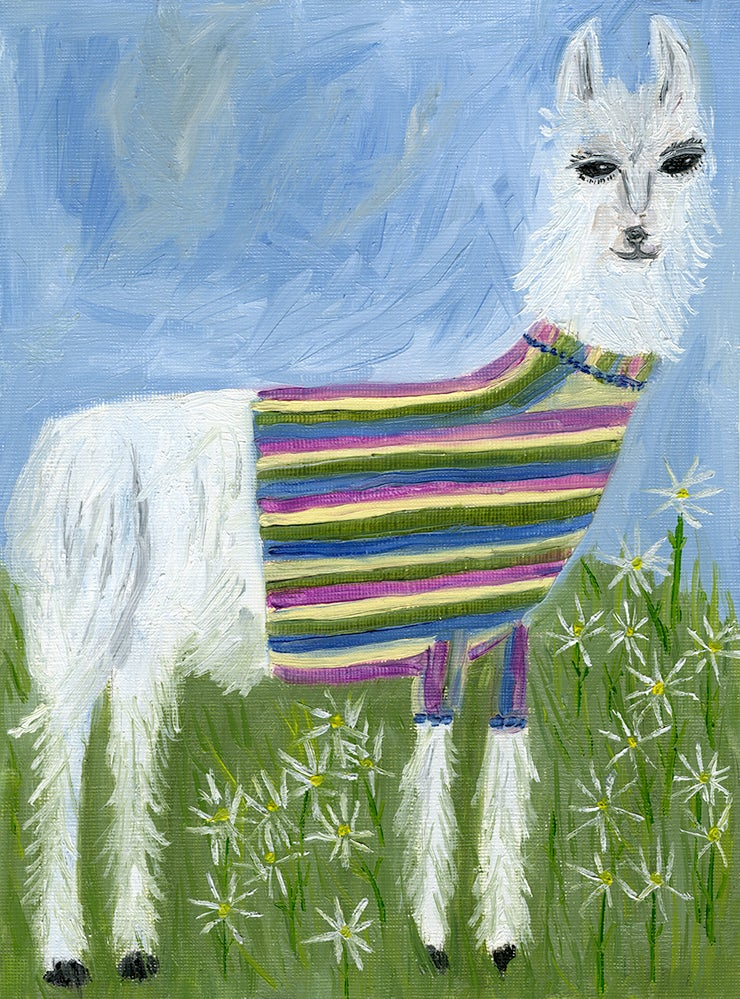 Image of Tina's new sweater. Limited edition print.