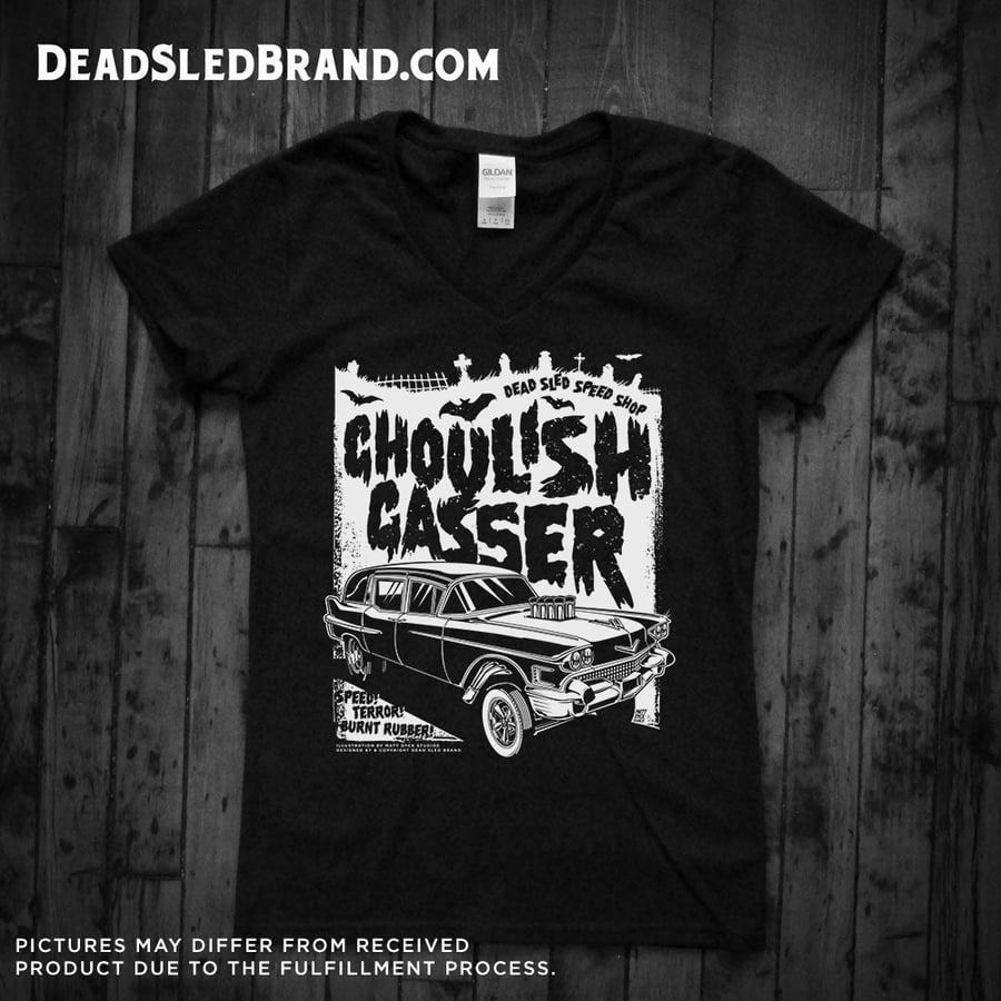 Image of Ghoulish Gasser Short Sleeve V-Neck T-Shirt