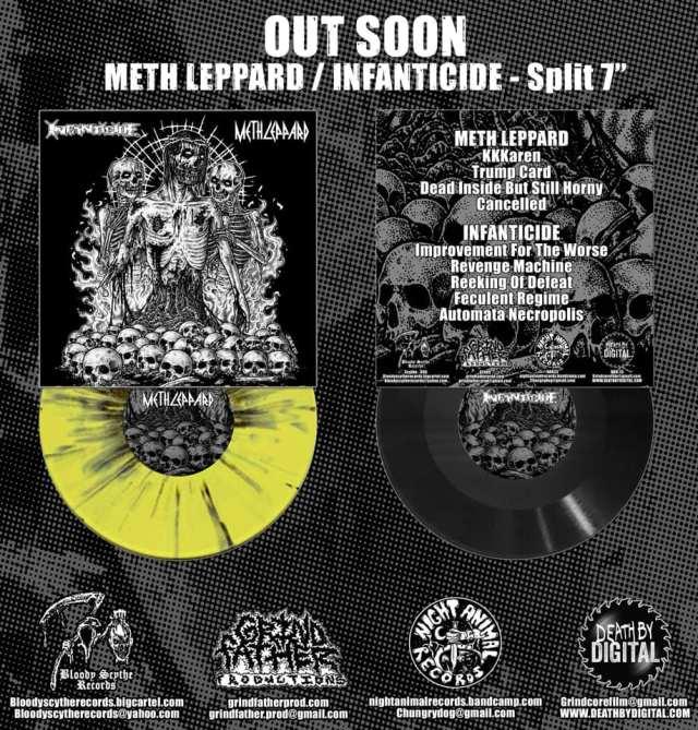 """Meth Leppard / Infanticide Split 7"""" PRE ORDER"""
