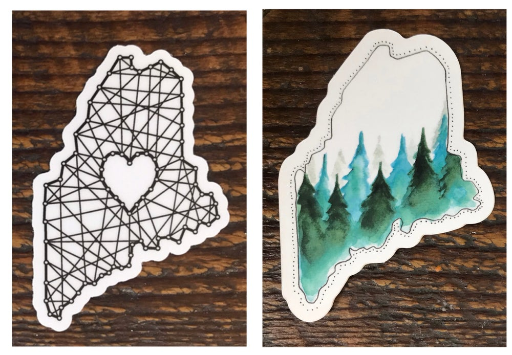 Image of Maine stickers