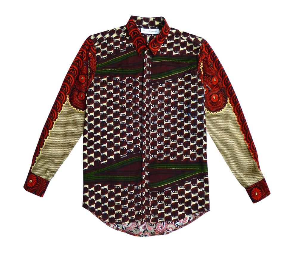 Image of African Wax Mens shirt