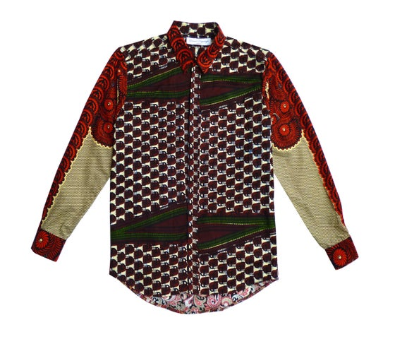 Image of African Wax Mens shirt