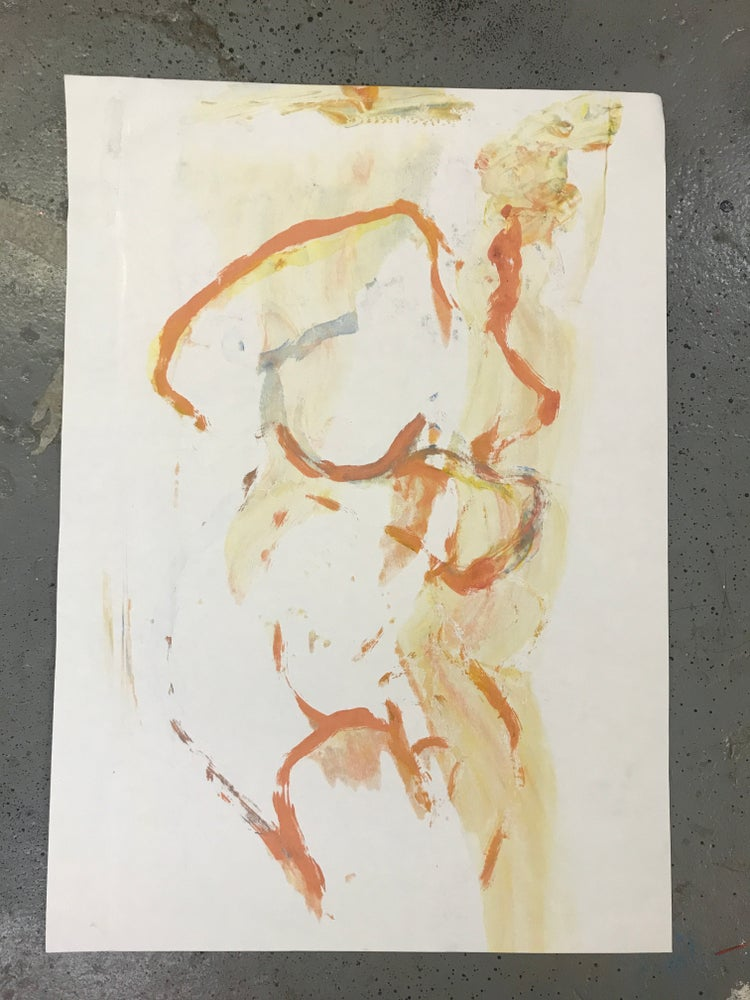 Image of 'Queered figure' Autographic screen print