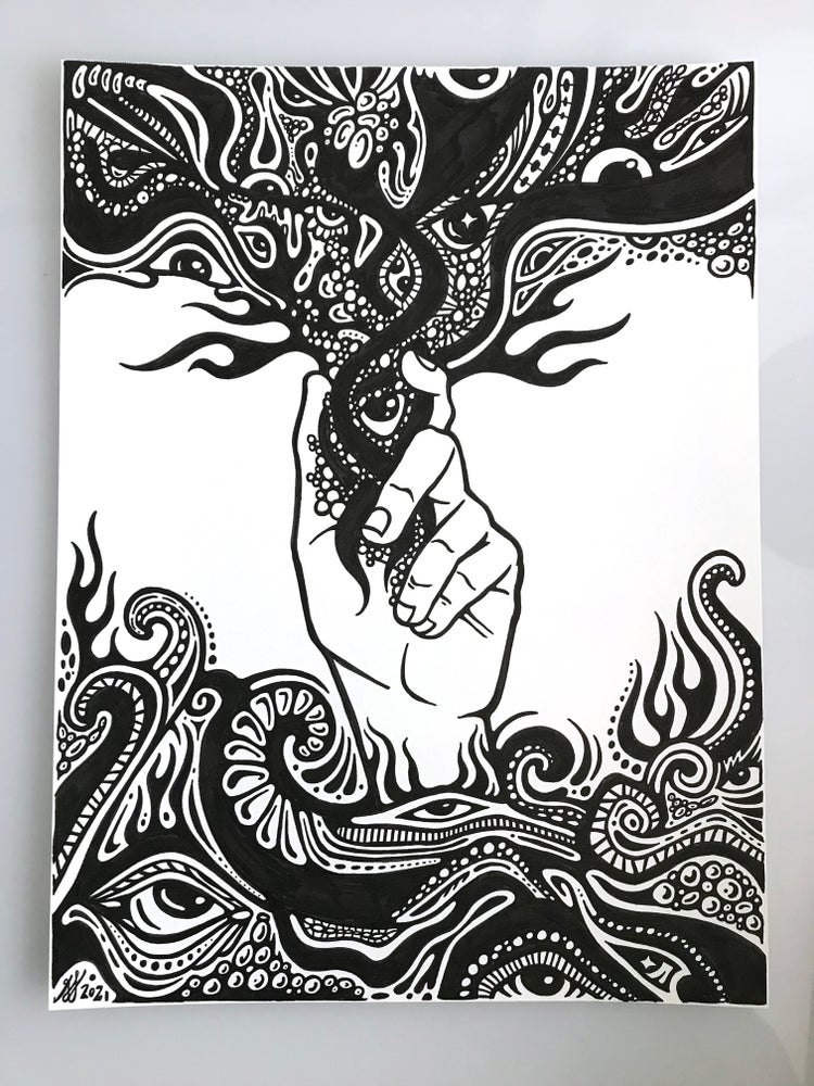 Image of Flowing Hand Vibes Doodle