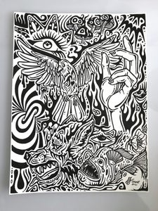 Image of Stream Of Consciousness Doodle #1