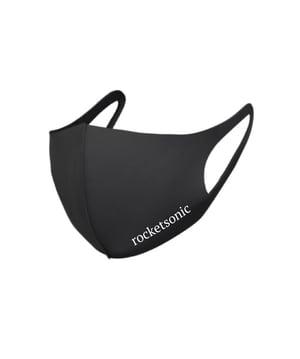 Image of Rocketsonic 'Stretch Fabric' Face Mask - Black