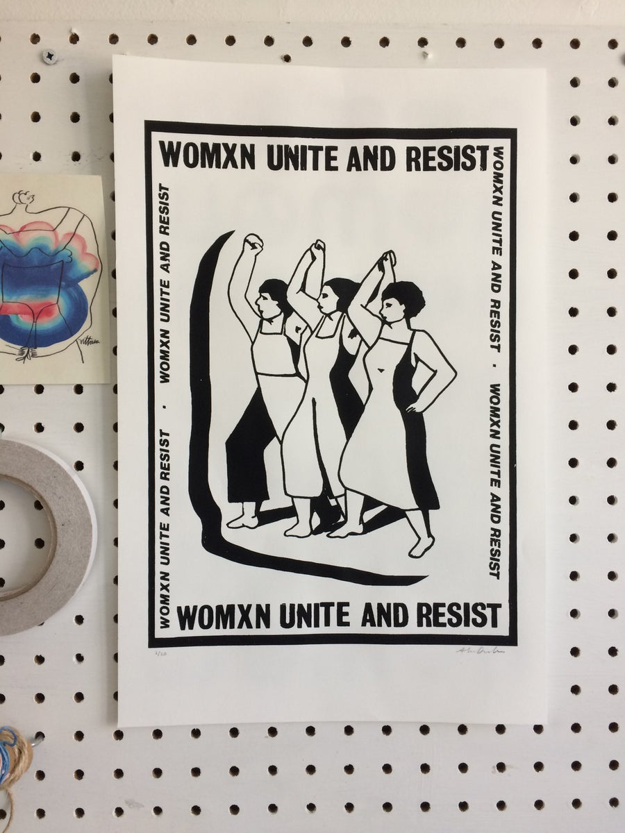 Image of Womxn Unite and Resist Poster
