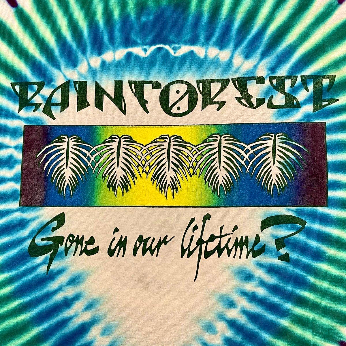Original Vintage Grateful Dead 1980's Rainforest Tee! X-Large