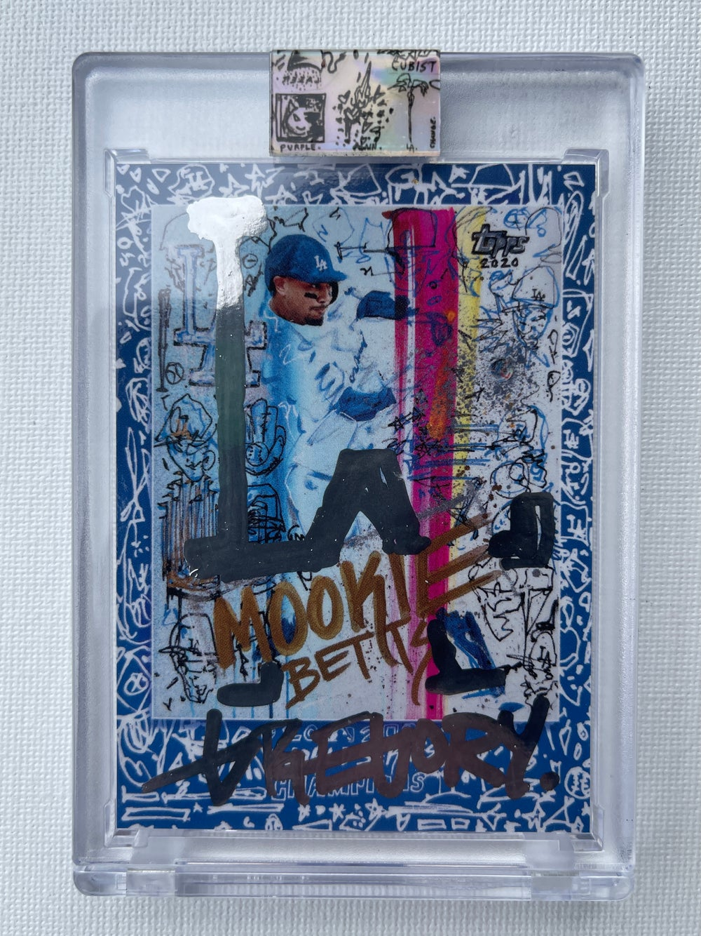 CHROME MOOKIE BETTS WORLD SERIES Topps X Gregory Siff Artist Autograph