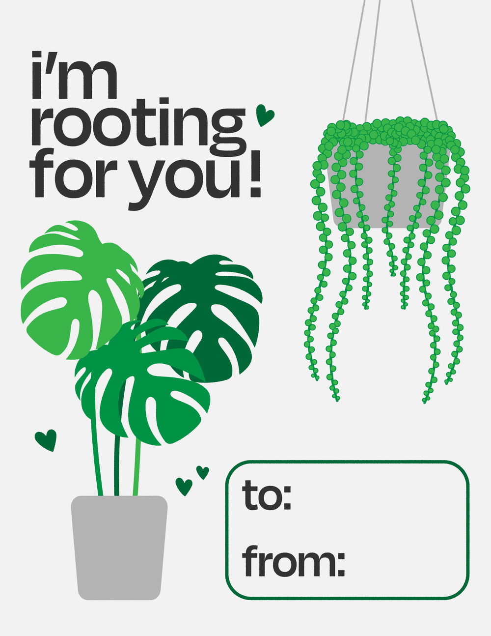 """""""I'm Rooting For You"""" Print"""