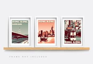 Image of Vintage poster Hong Kong - Kowloon Station - Fine Art Print