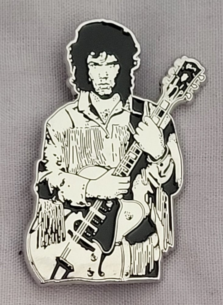 Image of Wild Frontier Tribute to Gary Moore limited edition shaped enamel pin.