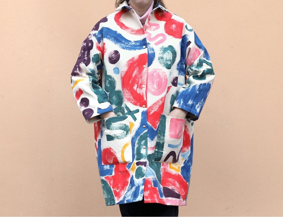 Image of COLOR PAINTED COAT