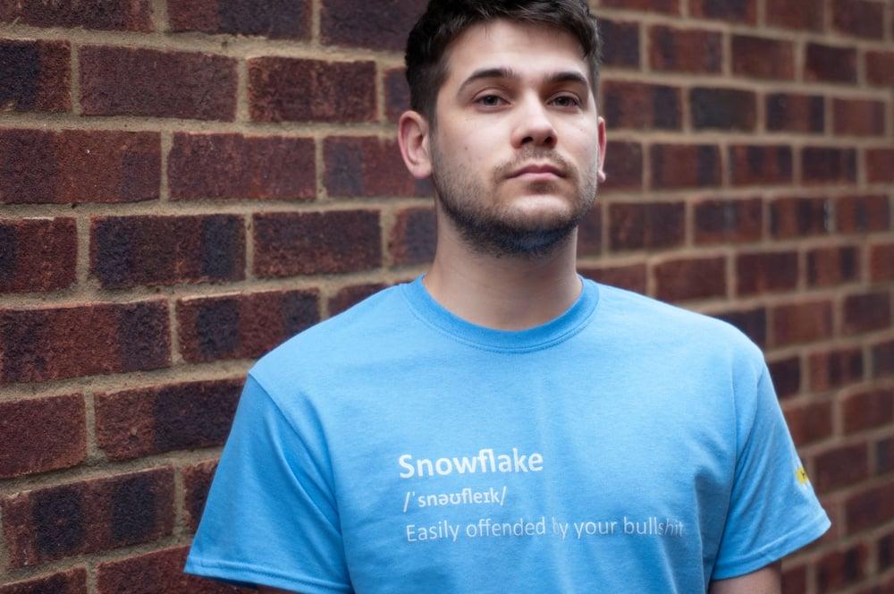 Phonetic Snowflake T-shirt