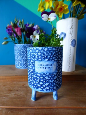 Image of 'Rooting For You' Plant Pot