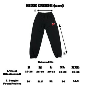 Dinner For Two Embroidered Tracksuit Bottoms (Black)