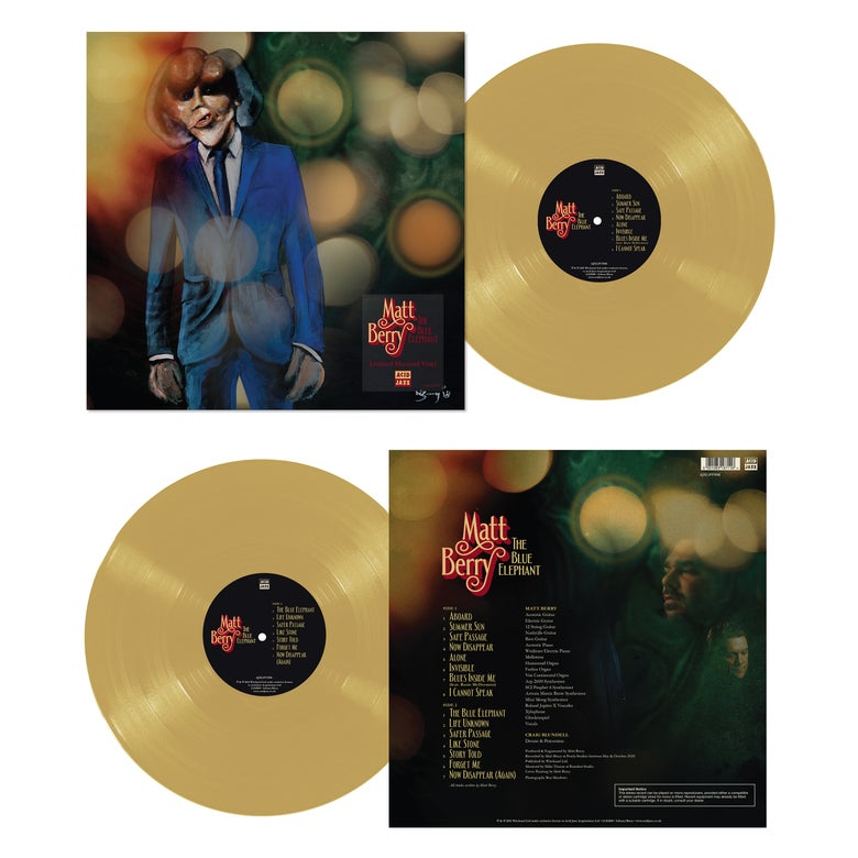 Image of Matt Berry 'The Blue Elephant' - Limited Edition Mustard Vinyl LP