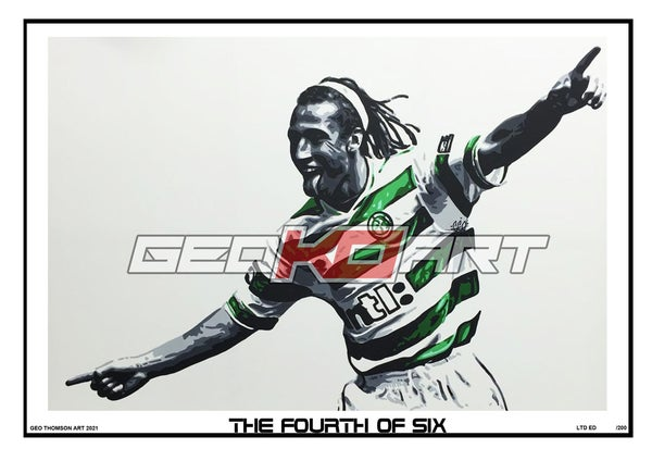 Image of HENRIK LARSSON CELTIC 4TH OF 6