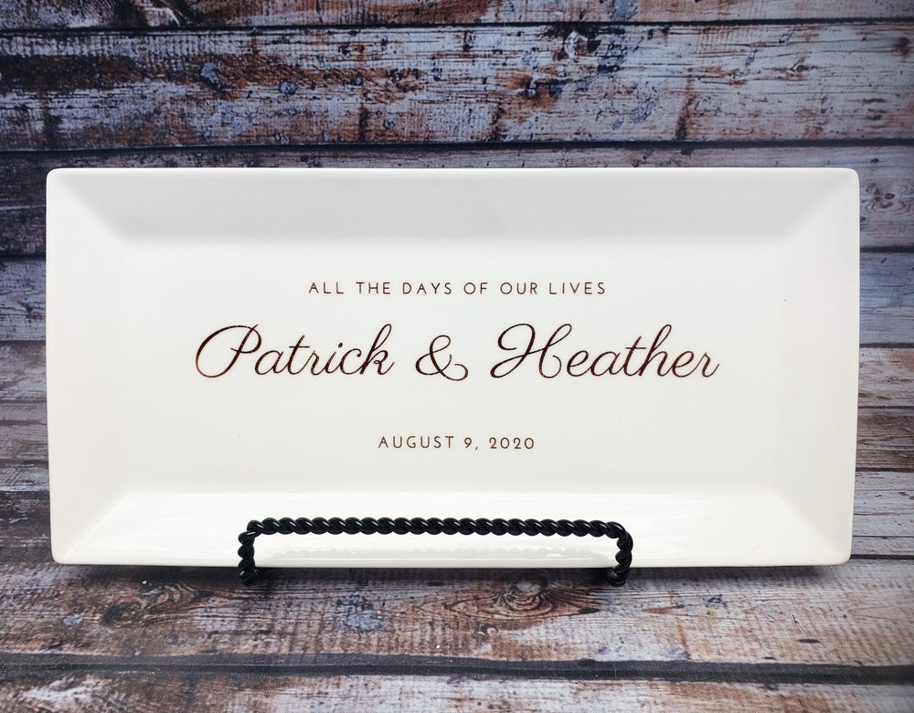 Image of Custom Wedding Platter Anniversary Platter