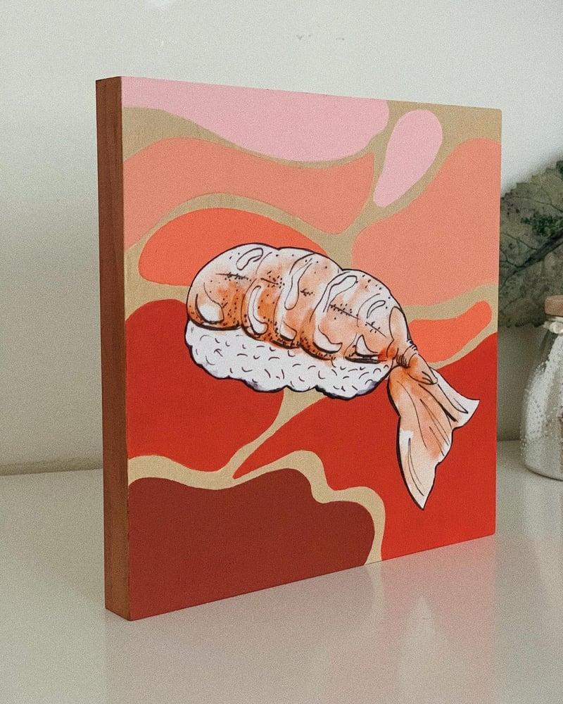 Image of Sushi Wood Canvas