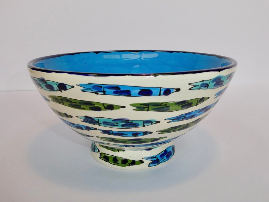 Image of Fish with Turquoise Centre Ramen Bowl - RB02