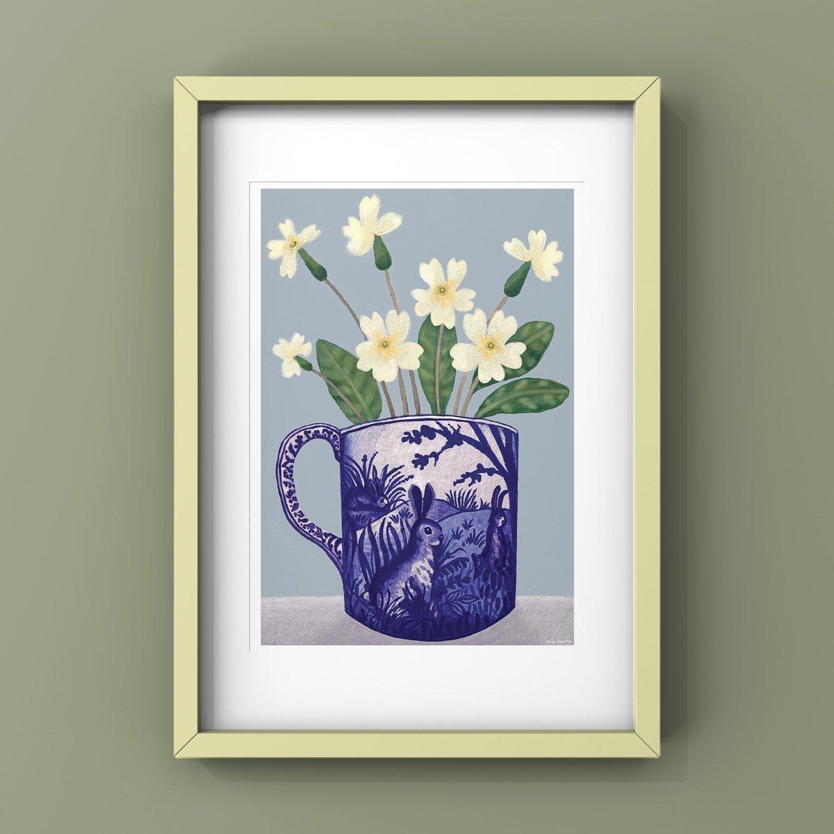 Primroses in Rabbit Cup