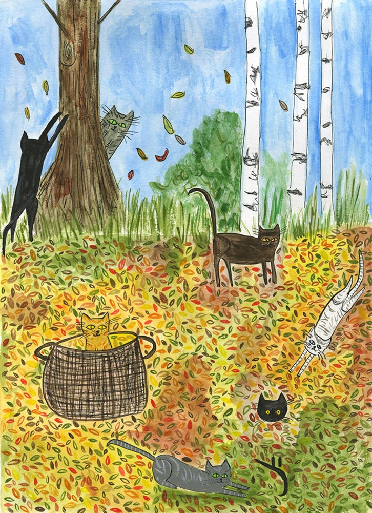 Image of Fall frolic. Limited edition print.