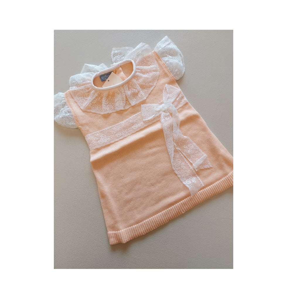 Image of Peach Lace Dress