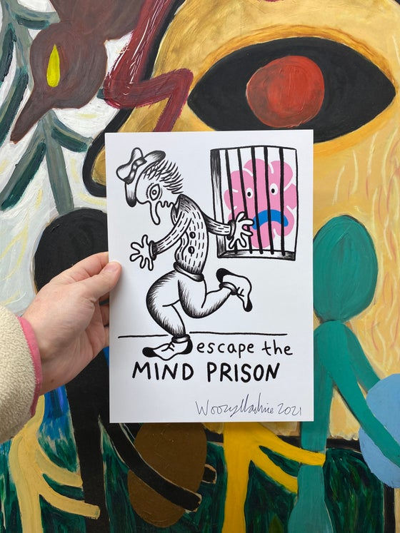 Image of ESCAPE THE MIND PRISON - SIGNED A4 PRINT