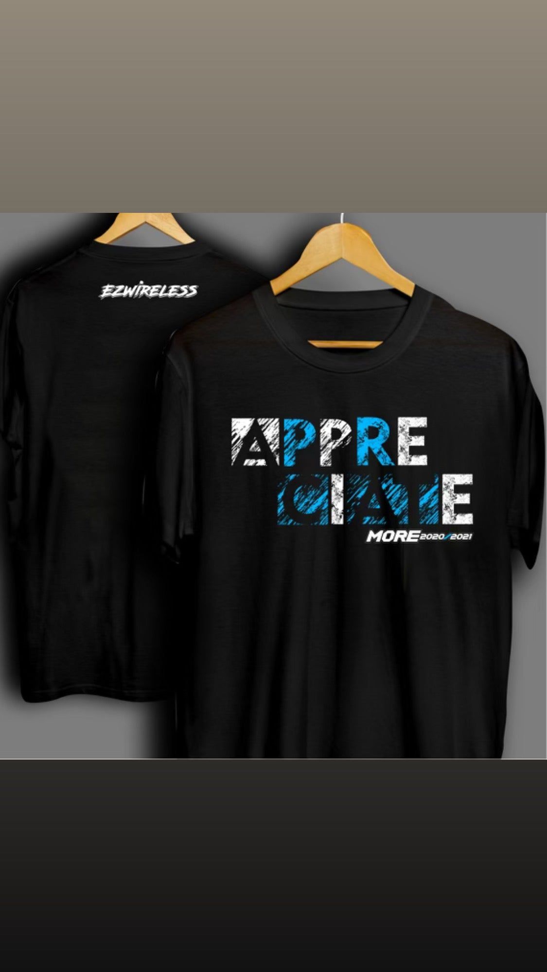 Image of Appreciate More Blue Tee Shirts