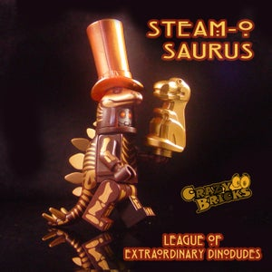 Image of DELUXE STEAMPUNK DINOS - Steam-o-osaurus