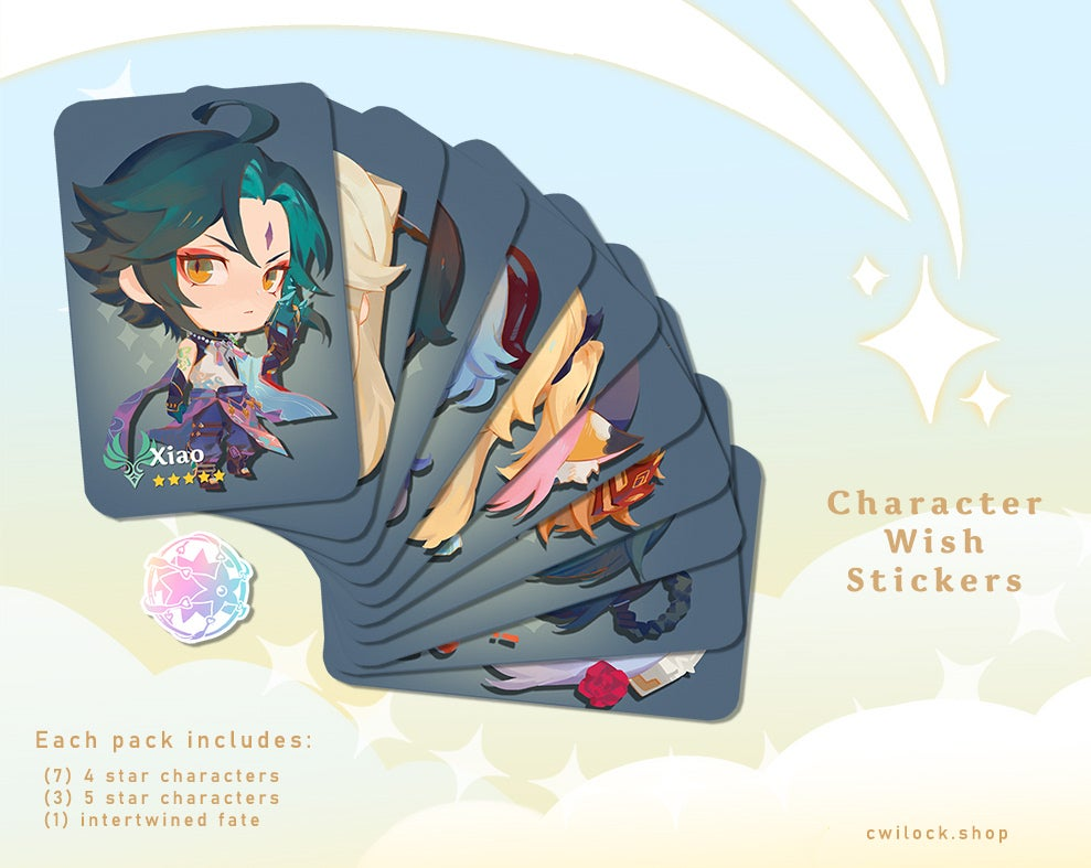 Image of Character Wish Stickers