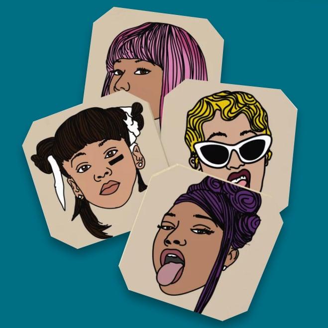 Ladies First (Coaster set)